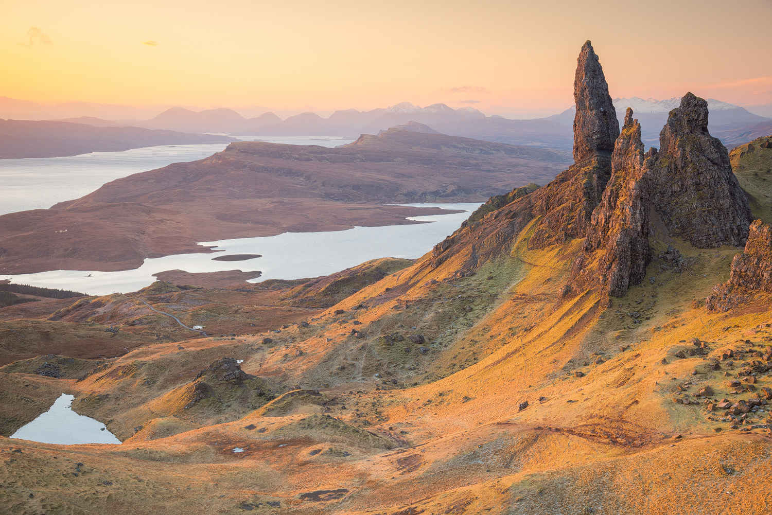 The Storr, Trotternish peninsula on the Isle of Skye (Scotland)