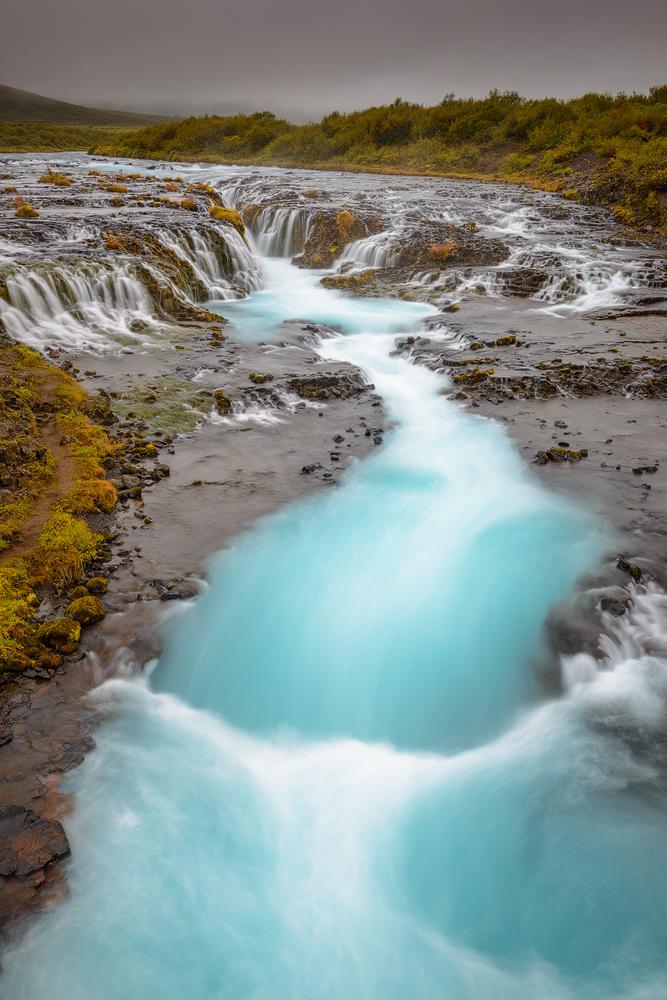 Brúarfoss Waterfall, Iceland.