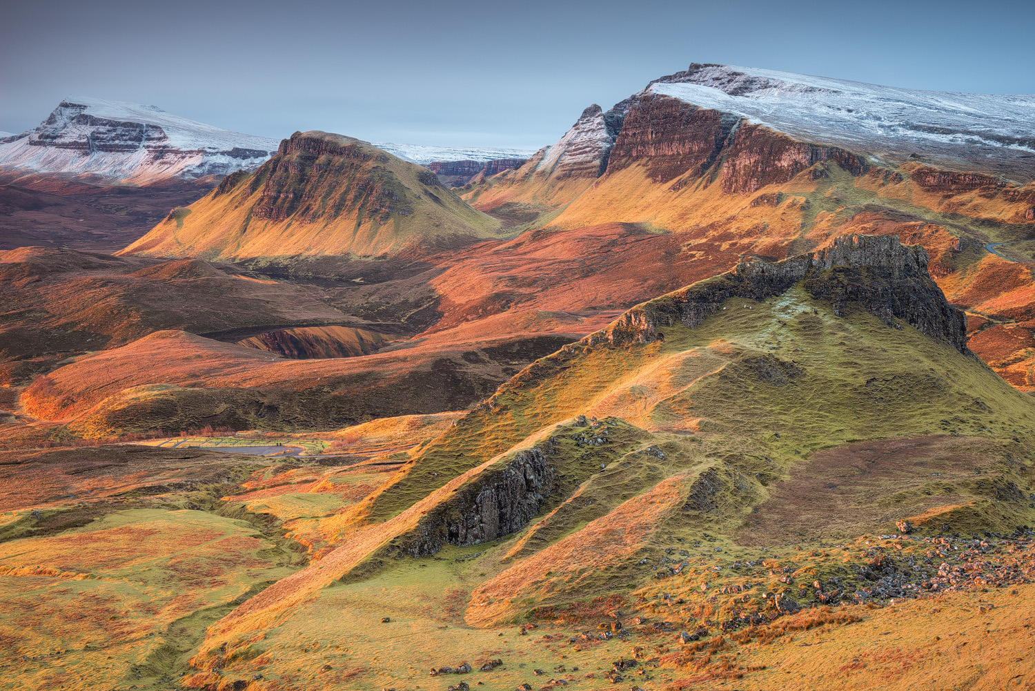 The Quiraing, Trotternish peninsula on the Isle of Skye (Scotland)