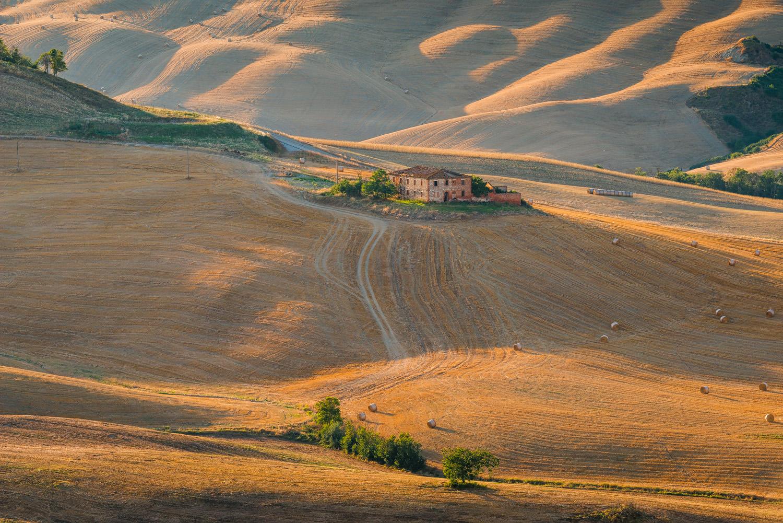 Nei pressi di Asciano, cuore delle Crete senesi. Toscana (Siena)