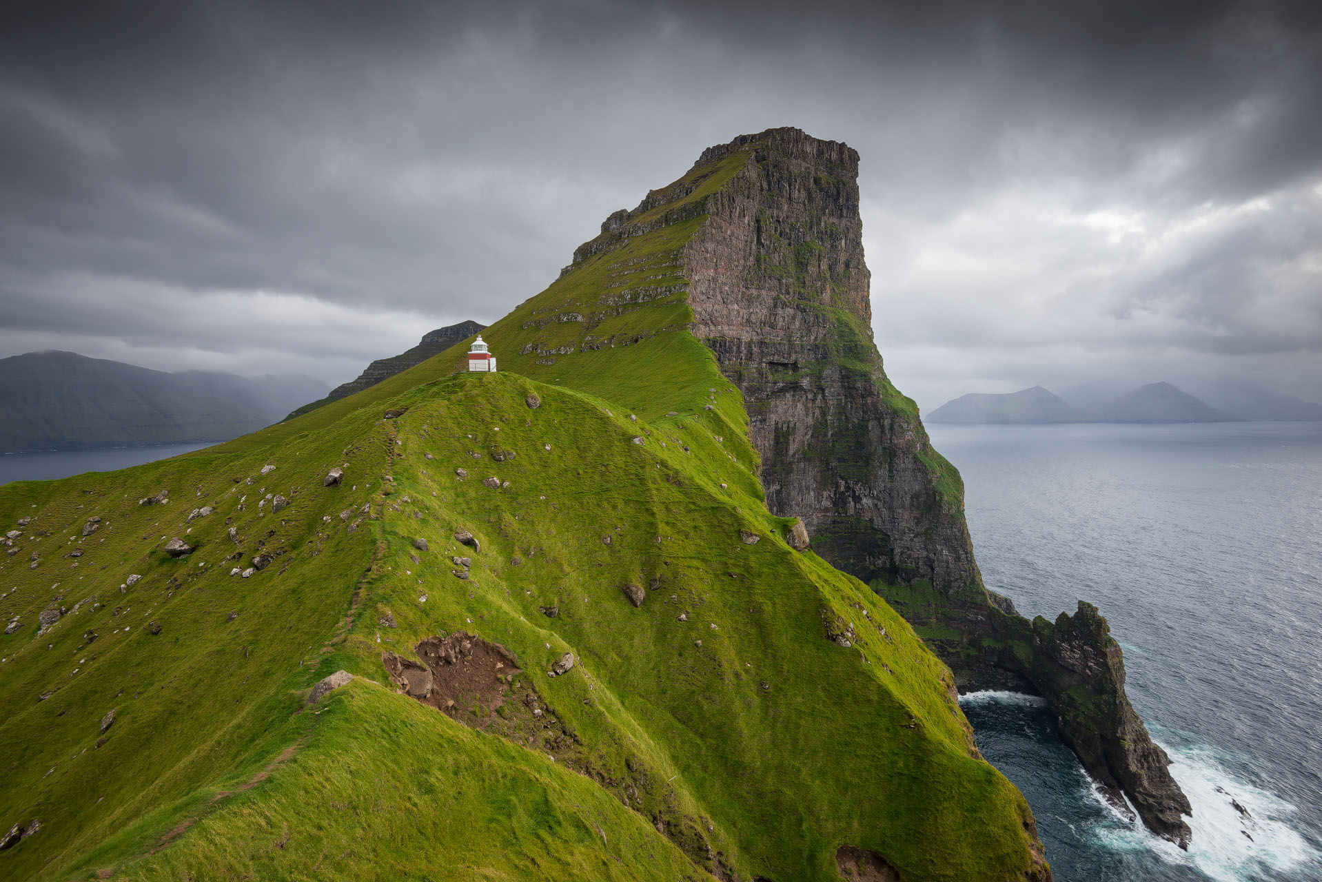 Kallur Lighthouse, isle of Kalsoy (Fær Øer)