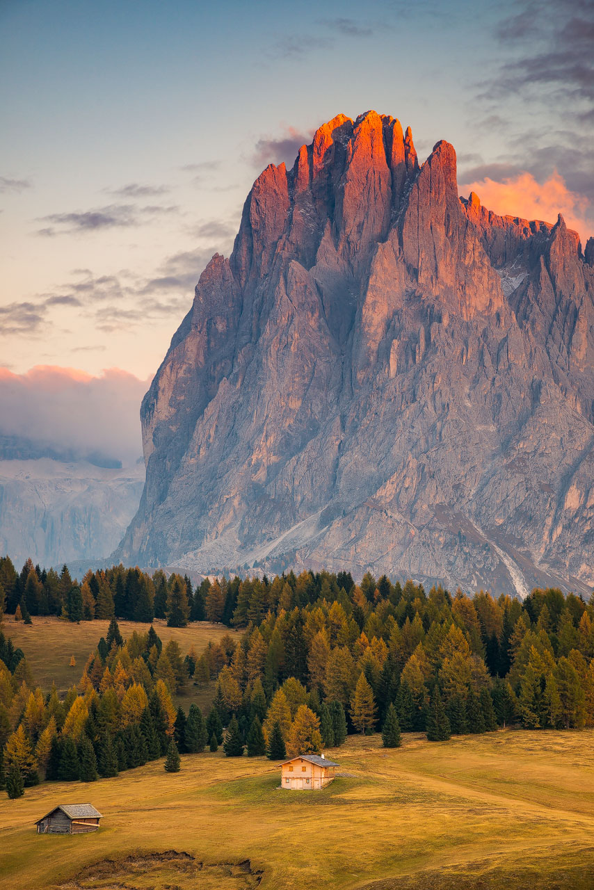 L'altopiano dolomitico Alpe di Siusi (Alto Adige)